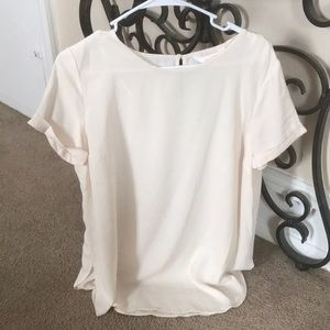 Lauren Conrad cuffed sleeve blouse